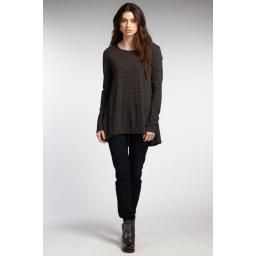 Rushed Tee, Black, S : So soft and cozy! Lovely ruched detailing on the collar and cuff. Organic cotton, made in Peru by fair trade artisans!