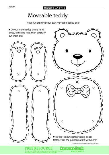 Valentine's Day Moveable Bear Craft