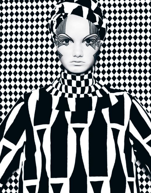 Black and white. You Can't See Me from DANSK AW12 Photographer: Bo Egestrøm / Creative Director: Uffe Buchard / Fashion Editor: Sandie Elisabeth / Hair & Makeup: Zenia Jæger / Model: Thea Melin