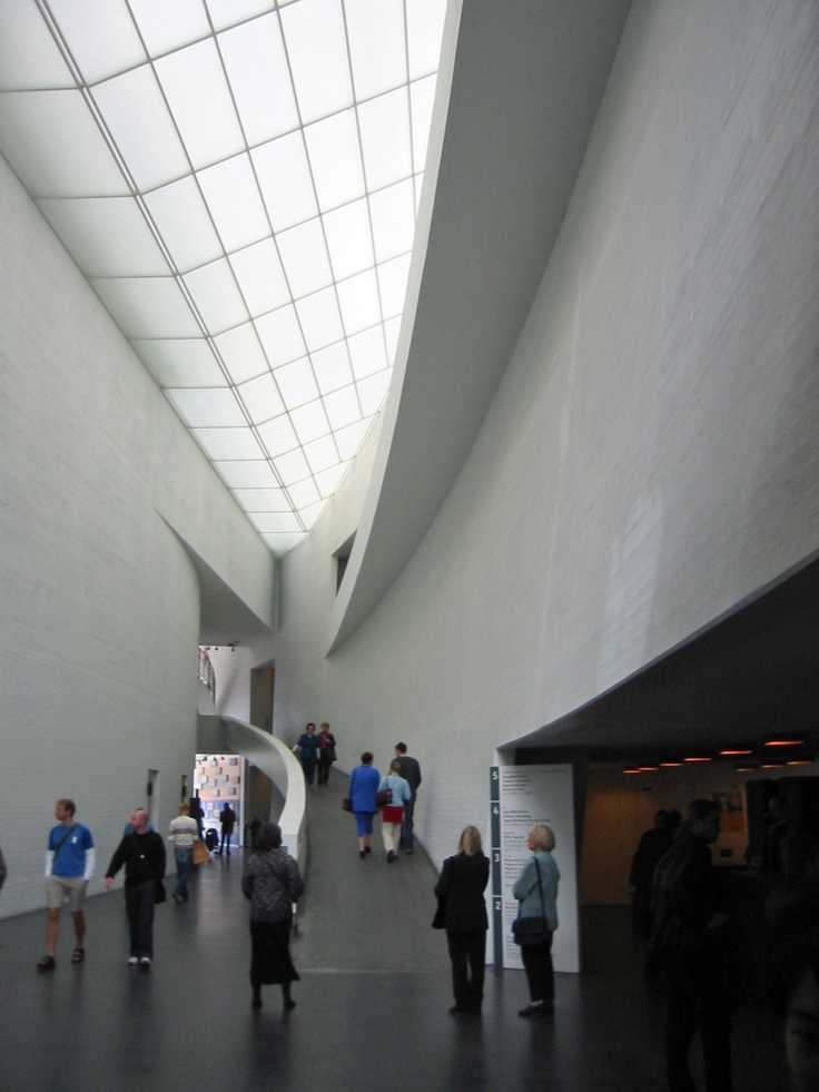 Kiasma museum of contemporary art in Helsinki, designed by Steven Holl Architects and built from 1993-1998.