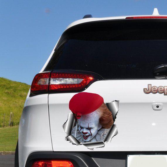 "Pennywise IT Clown 2017 Autocollant Vinyle Autocollant 6/"" x 3/"" STEPHEN-KING Halloween voiture"