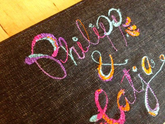Custom made machine embroidery card by BonitoFracaso on Etsy #Esty #Bonitofracaso