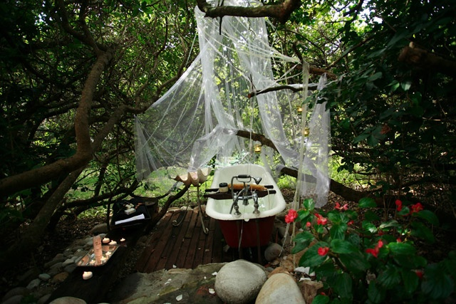 Kennedy's Beach Villa in Onrus - the room rate here includes your own piece of paradise. You can enjoy a real milk bath under your very own canopy of milkwood trees.  http://www.capetownmagazine.com/self-catering/Kennedys-Beach-Villa/111_22_18725