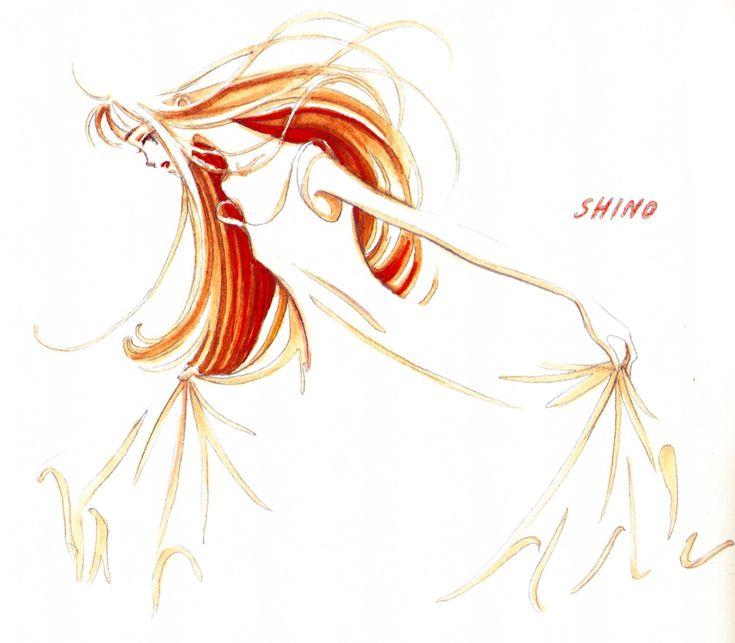 Sketch of Midori Saejima from 'Tenshi Nanka Ja Nai' series by Ai Yazawa.