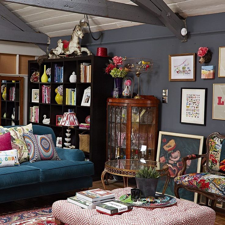 Sophie Robinson From BBC2s The Great Interior Design Challenge Living Room Featuring An Amelia Graham Printed