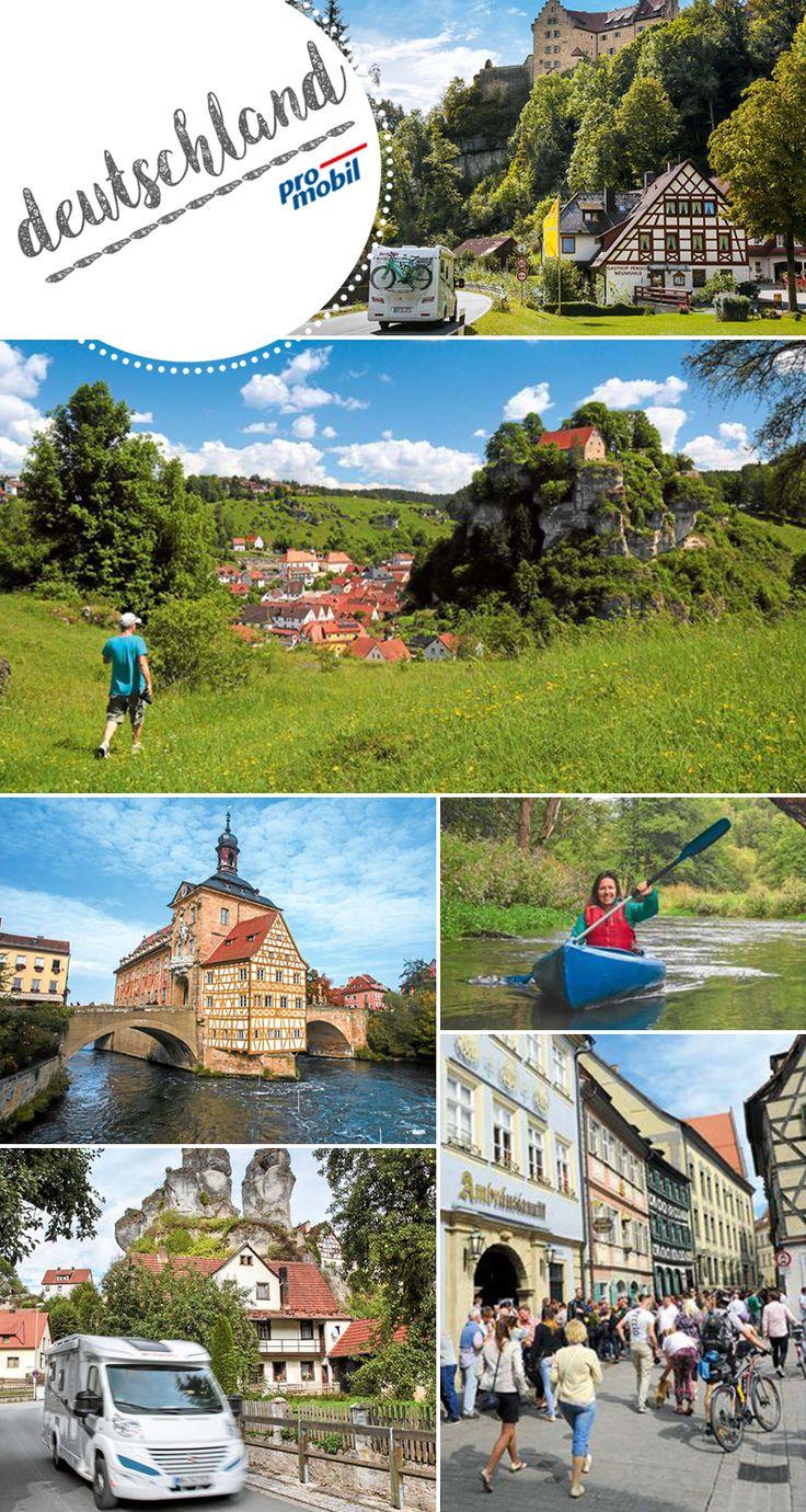 #Wohnmobil-Tour #Fränkische Schweiz Wald und #Wandern gut  Klar, die #Fränkische Schweiz ist ein wahres Paradies für Naturfreunde, zudem gibt es jede Menge schöne Stell- und #Campingplätze. Es locken aber auch alte Kulturstädte wie #Bamberg und #Bayreuth – und der wohl größte Biergarten der Welt.