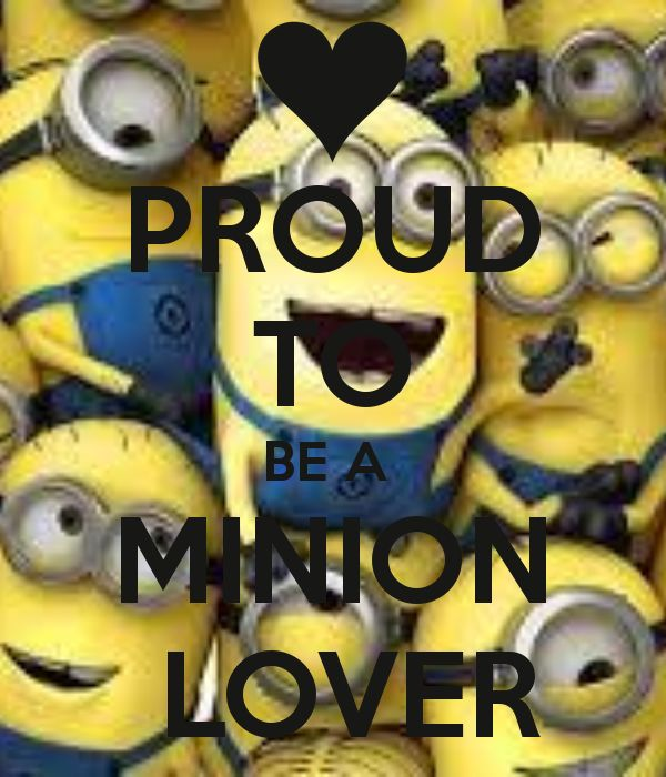 PROUD TO BE A MINION LOVER   KEEP CALM AND CARRY ON Image Generator