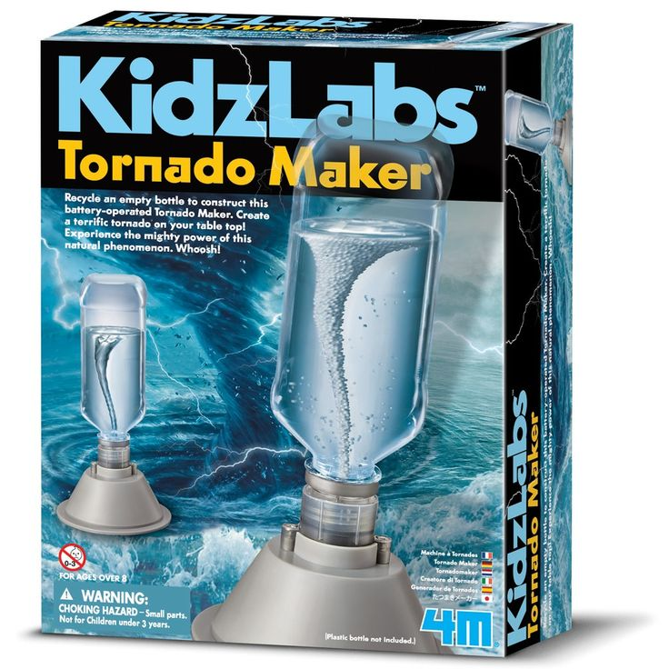 Kids who love experimenting will enjoy this Tornado Maker. Ideal for them to learn about the climate.
