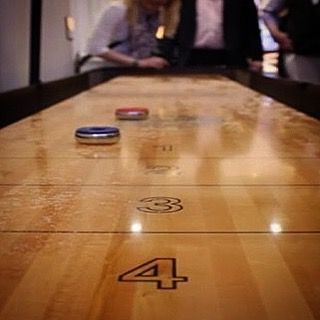 A bit of #shuffleboard Friday fun!  This seriously attractive Madison shuffleboard is made from maple wood.  #mancave #interiordesign #design #interior #vintage #gamesroom #classic #fridayfun