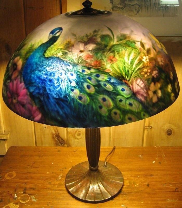 Reverse Painted Landscape Glass Art by Nancy Magnell - Reverse ...