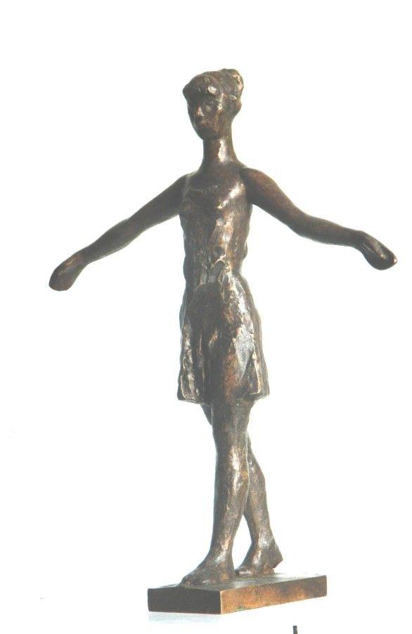 Girl, bronze sculpture by Jaroslav Jurčák | Czech contemporary artist.