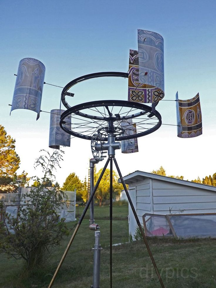 Pompa do wody zbudowana z części rowerowych