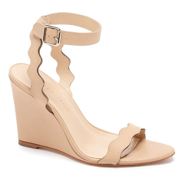 IN THE BUFF | These leg-lengthening nude wedges will give you an extra few inches of height without compromising comfort. Buy It! Loeffler Randal Piper high-wedge sandal, $350; loefflerrandall.com