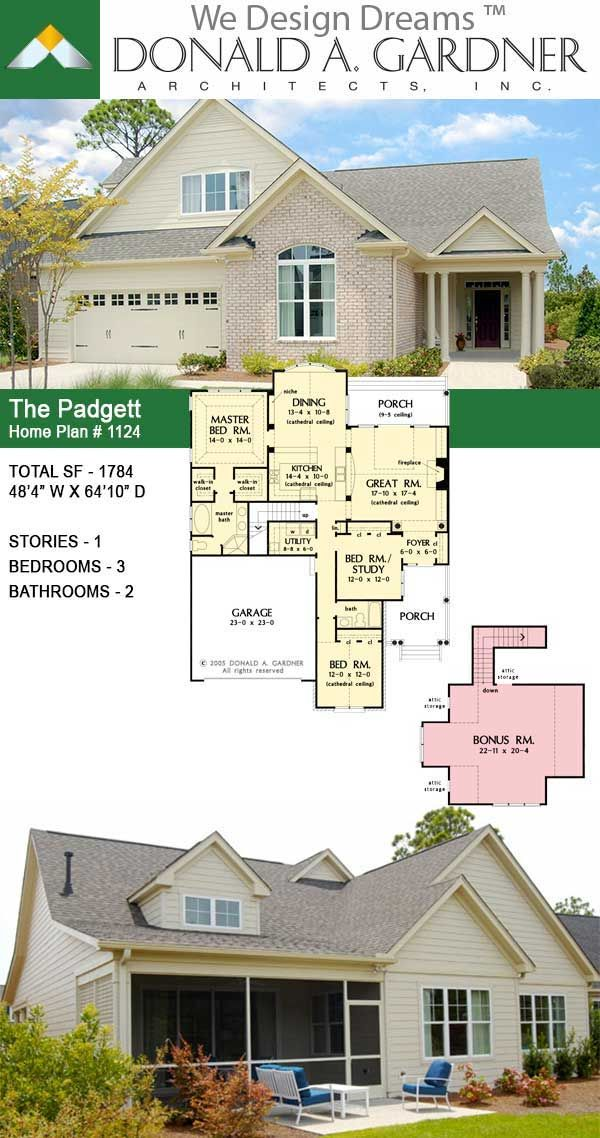 House Plan The Padgett Home Plan In 2020 Unique Small House Plans House Plans Country House Plans