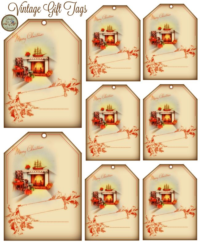 203 best christmas vintage ornaments images on pinterest vintage gift tags free printable negle Gallery