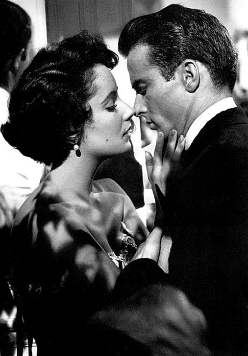 elizabeth taylor & montgomery clift - a place in the sun 1951 - theniftyfifties.tumblr.com