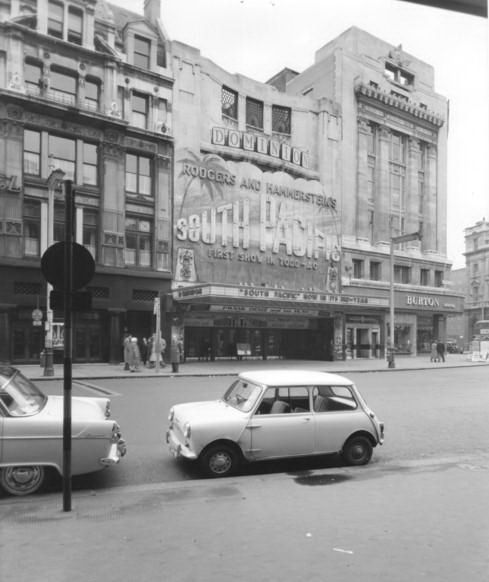 320-Tottenham Court Road in the 1950's - Dominion Cinema by Warsaw1948, via Flickr
