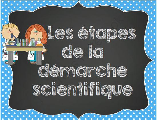 La démarche scientifique/ French scienfic method posters and printables from MadameEmilie on TeachersNotebook.com - (9 pages) - Cet ensemble sur la démarche scientifique contient des affiches sur la démarche scientifique et un journal de sciences.