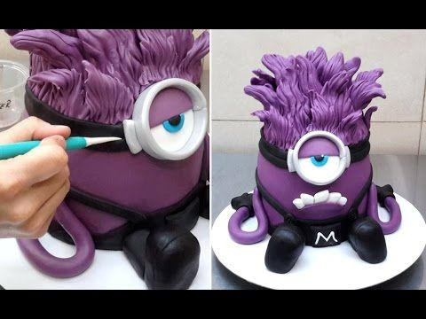 Evil Despicable Me 3D Cake - How To by CakesStepbyStep - YouTube