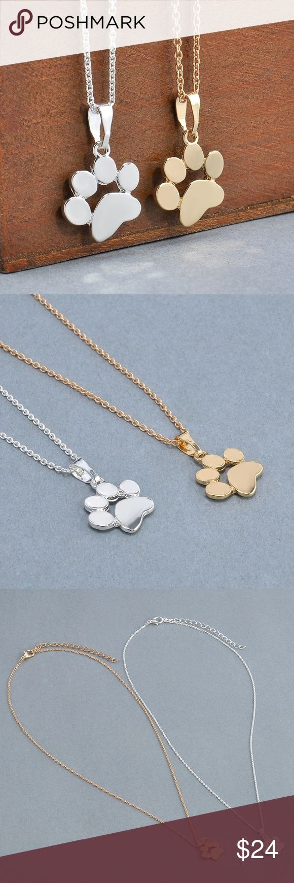 Paw Print Necklace, Perfect for Animal Lovers!  Paw Print Necklace, Perfect for Animal Lovers!  Bundle with other items for additional discounts! Jewelry Necklaces
