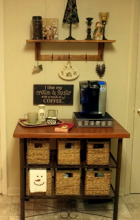 Best 25 keurig storage ideas on pinterest for Things in a coffee bar