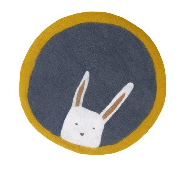 Tapis rond en feutre - Pasu 120 cm bunny gris orage - MUSKHANE