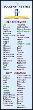 large free printable kids bookmarks books of the bible | ... . These handy bookmarks help children learn the books of the Bible