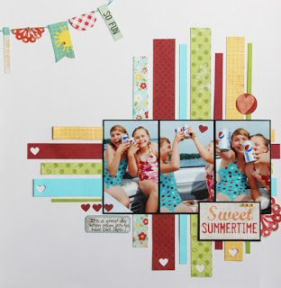 Summer Scrapbook Layout | 12X12 Page | Scrapbooking Ideas | Creative Scrapbooker Magazine #summer #scrapbooking #12X12layout