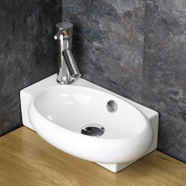 Image result for small cloakroom sink basin left