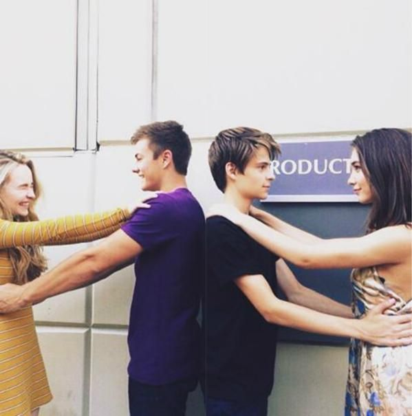 girl meets world cast: sabrina/maya x peyton/lucas and corey/farkle x rowan/riley | sabrina carpenter