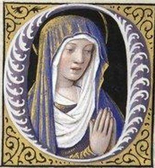 Manuscript illuminator Jean Bourdichon (1457-59-1521), 1503-08, Grandes Heures d'Anne de Bretagne, France. #Ornate_Lettrine