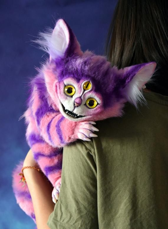 Peluche Chat Alice Au Pays Des Merveilles One And A Half Cheshire Cats Hecho A Mano Peluches Ratones