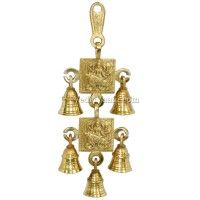 Mata Sherawali Hanging Bell in Brass Free Ship Vedicvaani.com Five Bells set, Wall hanging bells online india, Maa Durga ghanti for home decoration purpose