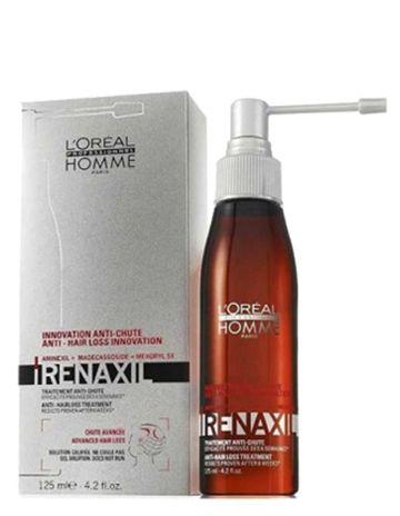 Loreal Homme Renaxil Losyon 125 ml - Erkekler İçin Saç Dökülmesini Önleyen Losyon Erkeklere özel saç dökülmesini önleyen losyon.Erkeklerde hafif saç dökülmesi veya saç dökülmesi başlangıcı aşamasında kullanılır.Saçın dökülmesine sebep olan faktörlerle savaşır.Saçı güçlendirir ve canlılık katar.Saç derisini rahatlatarak ferahlık hissi verir.Saçın dökülen kısımlarına lokal olarak uygulanır. www.elizehair.com