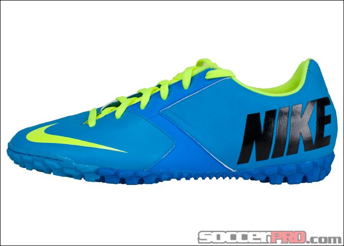 Nike Fc247 Bomba Ii Turf Soccer Shoes Current Blue With Volt