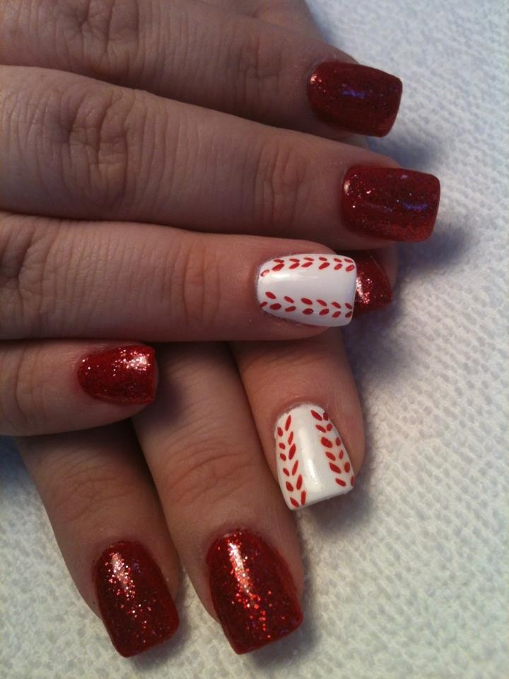 The 25 best baseball nail designs ideas on pinterest softball sports nail art photographs supplied by members of the nails magazine nail art gallery prinsesfo Gallery