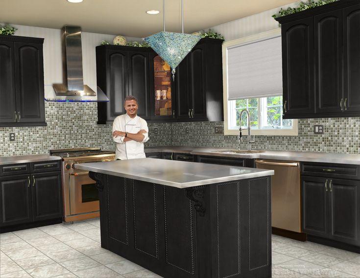 Beautiful Black Kitchen Interior Design Ideas Part 8
