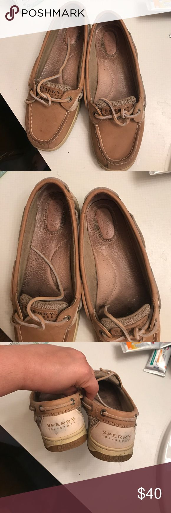 Sperry Women's  Top-Sider Size 8.5 Worn a handful of times has a few scuff marks and wear. Some of the condition will improve with some cleaning but not all Sperry Top-Sider Shoes
