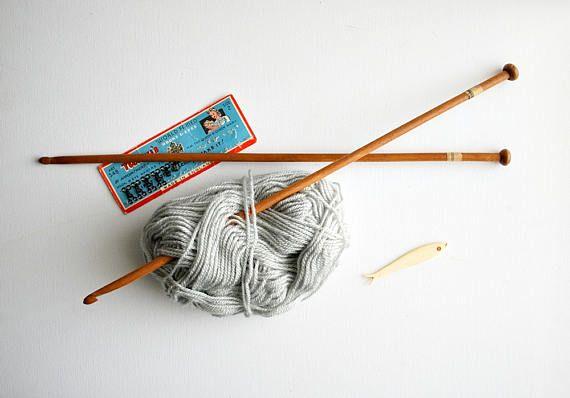 Vintage Afghan Wooden Crochet Hooks