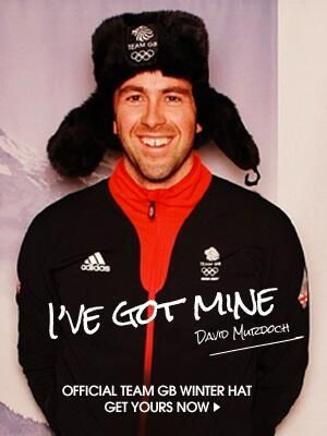 David Murdoch with his Team GB winter hat