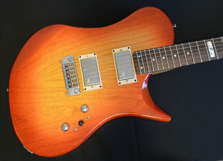 wt. Foster Guitars model F5001 STD. Ash body finished in Sunset burst