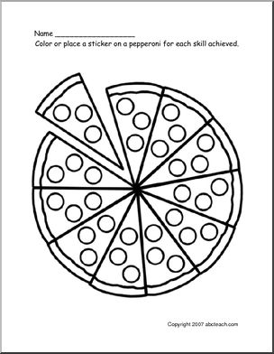 Incentive Pizza Chart! Got this idea earlier to make pizza