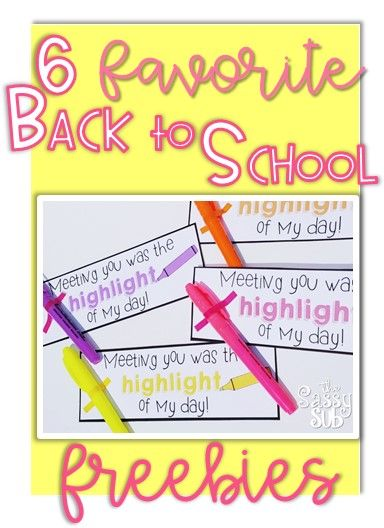 SIX freebies perfect for the first day or week of school. Includes activities, gift tags, intro letter and more! Great for 1st, 2nd or 3rd grade. Back to School, First Week