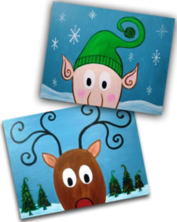 Come and enjoy our Santa's Little Helpers! We've got two adorable characters, ready to help Santa get ready for Chrismtas. Both paintings will be featured, so you choose which one you'd like to paint!
