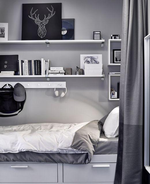 die besten 25 brimnes bett ideen auf pinterest brimnes kommode ikea kinderk che ab welchem. Black Bedroom Furniture Sets. Home Design Ideas