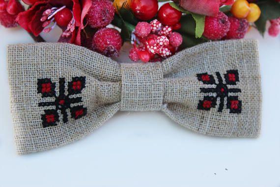 Linen Bow Headband  Bow Headband Infant Headband  Gift for