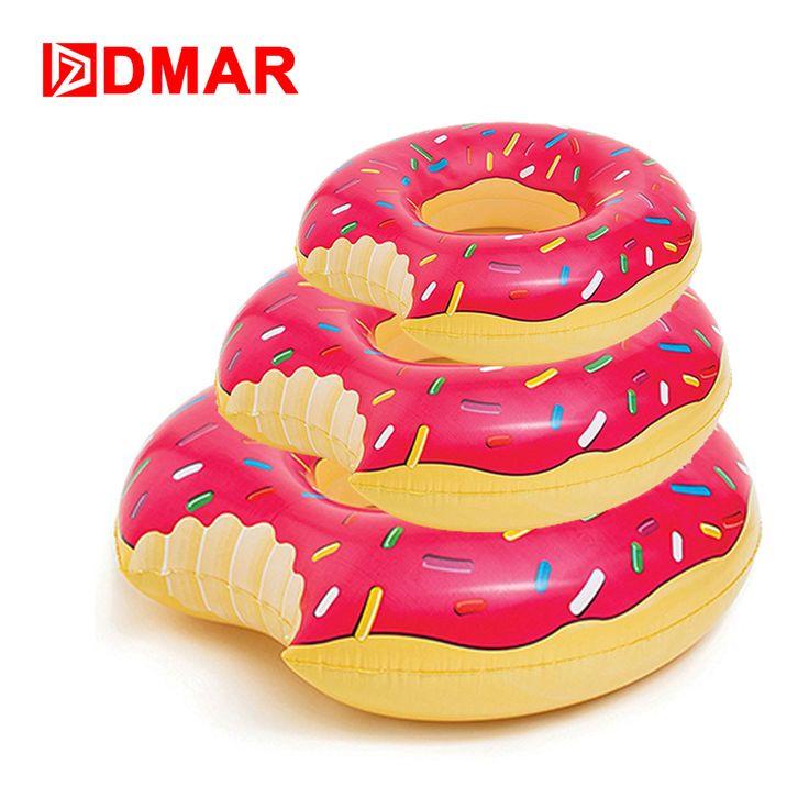 Inflatabale Donut Anillo de Natación 2 Colores Círculo de Natación Para Adultos Juguetes De La Piscina Flotante Estera de la Playa Colchón Inflable Gigante de Agua