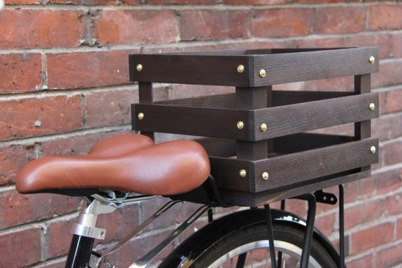 This Wooden Bike Crate was hand built, stained and coated with a sealer to protect against the weather. It is very light and yet strong enough to