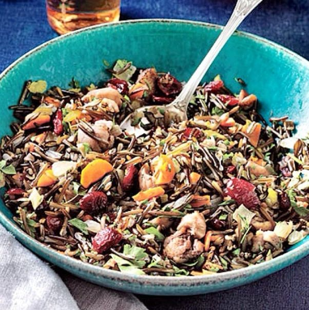 We found this recipe which looks so delicious, Wild Rice Dressing with Roasted Chestnuts and Cranberries, yum!   For the recipe go to: http://www.myrecipes.com/recipe/wild-rice-dressing-50400000107527/   #mayvers #chestnuts #christmas #recipe #cranberries #soyummy