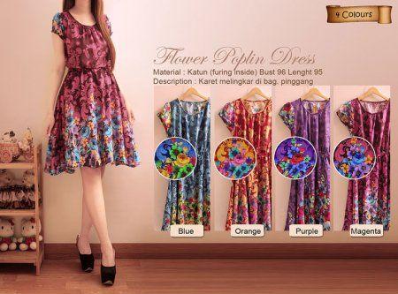 VNV2006 Flower Poplin Dress 95.000